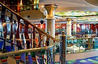 Fragment of restaurant, Norwegian Dawn cruise ship, Western Caribbean