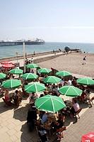 Cafe at Brighton Beach Sussex
