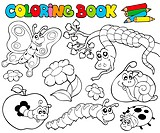 Coloring book with small animals 1 _ isolated illustration.