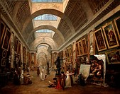 Project For The Disposition Of The Grand Gallery 1796 Hubert Robert 1733_1808 French Oil On Canvas Musee du Louvre, Paris, France