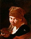 Head Of A Girl Giovanni Battista Piazzetta 1682_1754 Italian Oil On Canvas