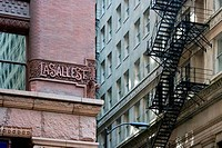 Low angle view of buildings, LaSalle Street, Chicago, Illinois, USA