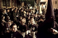 Spain, Seville, Monaquillos, children in procession