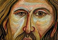 Byzantine Mosaic, Palermo 2007 John Newcomb b.20th C. American Watercolor