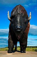 World´s Largest Buffalo Monument, Frontier Village, Jamestown, North Dakota, USA