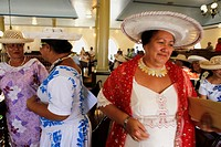 French Polynesia, leeward islands archipelago, island of Tahiti, sunday mass in Papeete, temple of Paofai