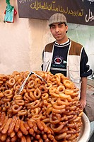 Fritters vendor, Old City, World Heritage Site by UNESCO, Sanaa, Yemen