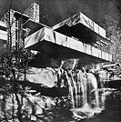 WRIGHT: KAUFMANN HOUSE.The Edgar J. Kaufmann House at Bear Run, Pennsylvania, designed by Frank Lloyd Wright, 1935.