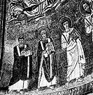 POPE JOHN IV d. 642.Pope, 640-642. At far left on the contemporary mosaic in the apse of San Venanzio in Rome, Italy.