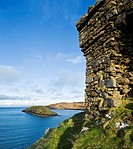 Clifftop ruins of Duntulm castle, Trotternish, Isle of Skye, Scotland