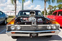 1967 Chevrolet Chevelle 396 custom classic muscle car at show in Leesburg, Florida, USA