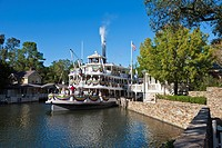 Liberty Square Riverboat attraction in the Magic Kingdom at Disney World, Kissimmee, Florida
