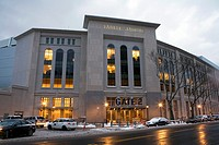 Image of the new Yankee Stadium during winter in the county of the Bronx, New York