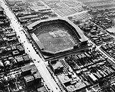 Aerial view of a baseball stadium, Sportsman´s Park, St. Louis, Missouri, USA