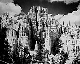 USA, Utah, Bryce Canyon National Park, Rock formations, low angle view