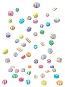 A 3D style image of candies