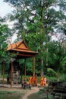 Cambodia, Angkor, Angkor Thom, Monastery Near Tep Pranam
