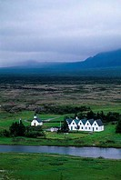 Iceland, Near Reykjavik, Thingvellir, Historic Site Of First Parliament Meeting