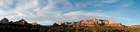 USA, Arizona, Sedona, Panoramic view of Cathedral Mountains
