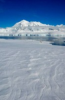 ANTARCTICA, ANTARCTIC PENINSULA, NEUMAYER CHANNEL, DAMOY POINT, ANVERS ISLAND IN BACKGROUND