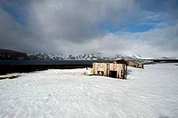 ANTARCTICA, DECEPTION ISLAND, PORT FOSTER, WHALERS BAY, REMAINS OF FORMER BRITISH RESEARCH STATION