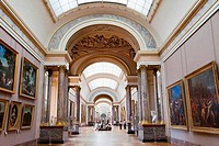 Interiors of a museum, Musee Du Louvre, Paris, Ile_de_France, France