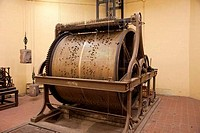 Belgium, Ghent, Carillon copper chiming drum in Belfry Tower Museum