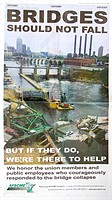 AFSCME union offering help full page ad Minneapolis StarTribune 35W Bridge collapse August 1, 2007  Minneapolis Minnesota MN USA