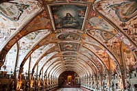 Interiors of a museum, The Hall Of Antiquities, Munich Residenz, Munich, Bavaria, Germany
