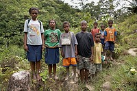 Locals, Baliem Valley, Western New Guinea, Irian Jaya, Papua, Indonesia