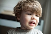 Toddler boy crying, portrait