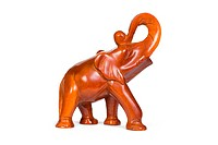Wooden figurine elephant
