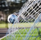 Soccer Ball in Goal Netting