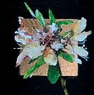 Squared Azalea I by John Bunker, acrylic, gold leaf and tile, 1997