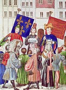 Proclamation Of Truce Renewal: France & England Froissart, Jeanca.1337_ca.1405 French Manuscript