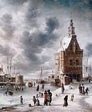 The Town Gate Of Hoorn Jan Abrahamz Beerstraaten 1622_1666 Dutch Kunsthalle, Hamburg, Germany