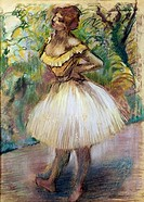 Dancer in Yellow Edgar Degas 1834_1917 French