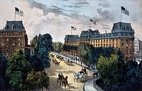 Saratoga Springs Currier & Ives 1834_1907 American Color Lithograph Library of Congress, Washington, D.C., USA