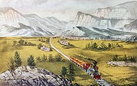The Great West Currier & Ives 1834_1907 American Lithograph