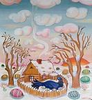 The Blue Bird by Vadim, oil on canvas, 1982