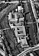 MUNICH: DEUTSCHES MUSEUM.Aerial view of the Deutsches Museum in Munich, Germany, located on an island in the Isar River. Photographed c1950.