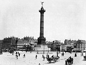 PLACE DE LA BASTILLE.Place de la Bastille at Paris, France. Photographed c1900.