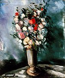 VLAMINCK: SUMMER BOUQUET.Oil on cavnas by Maurice de Vlaminck, mid 20th century.