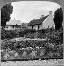 ROBERT BURNS (1759-1796).Scottish poet. The birthplace of Robert Burns, Ayr, Scotland. Stereograph, c1905.