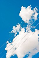 Wire in blue sky
