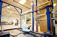 Testing a door opening/closing cycle, material homologation, Technology Research Center, Tecnalia Construction, CIDEMCO-Tecnalia Research & Innovation...