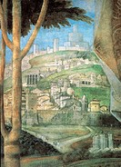 Decoration of the Camera degli Sposi Camera Picta, by Mantegna Andrea, 1465 _ 1474, 15th Century, fresco and dry tempera