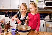 Children baking, Sweden.