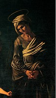 Madonna Palafrenieri, by Merisi Michelangelo known as Caravaggio, 1605, 17th Century, oil on canvas
