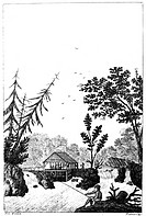 NEW YORK: SAW MILL, 1792.The sawmill of Henry Livingston, Junior near Poughkeepsie, New York.Line engraving from New York Magazine, 1792.